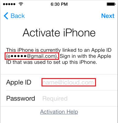 apple id service email